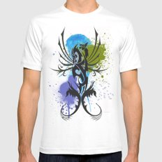 Tattoo White SMALL Mens Fitted Tee