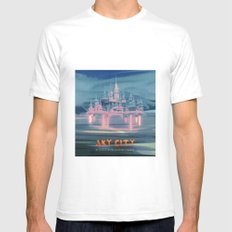 SKY CITY Mens Fitted Tee White SMALL