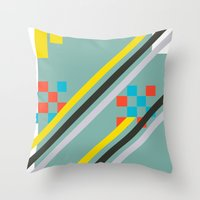 Squarely Throw Pillow