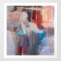 Abstract In Rust Art Print