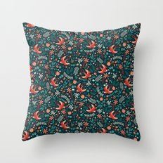 Flying Swallows Throw Pillow