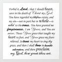 Prayer of Hymns Art Print