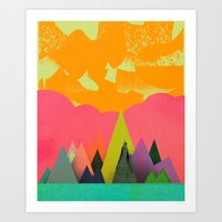Mountain Town Art Print