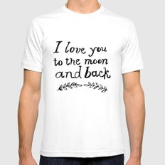 To the Moon and Back- White Mens Fitted Tee SMALL White