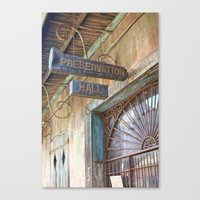 New Orleans Jazz Club Canvas Print