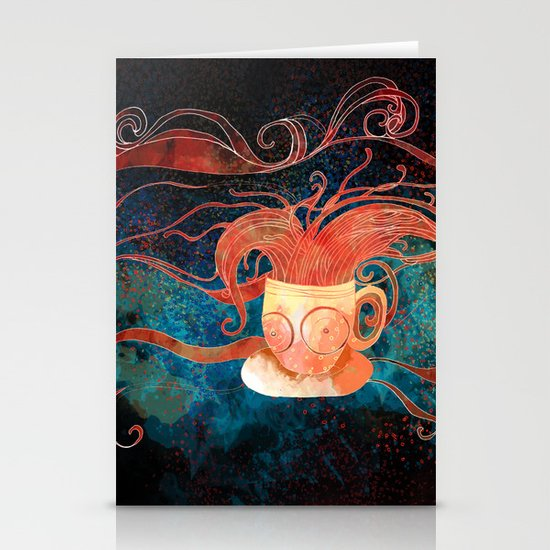 Black tea Stationery Card