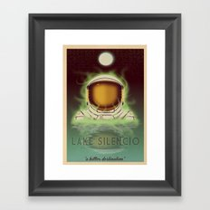 Visit Lake Silencio! Framed Art Print