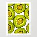 KiwiFruit slices Art Print