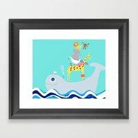 Taxi Whale Framed Art Print