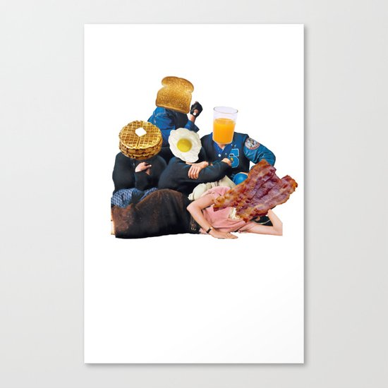 The Most Important Meal Of The Day Canvas Print By Cody C
