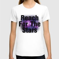 Reach For The Stars Womens Fitted Tee White SMALL