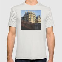 A little bit of Paris Mens Fitted Tee Silver SMALL