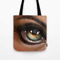 Hazel Eye Illustration Tote Bag