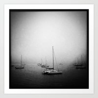 Fog At Marshall Art Print