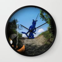 Where The Moon Goes To S… Wall Clock