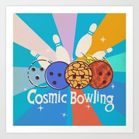 Cosmic Bowling Art Print