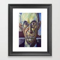 American Gothic Dad Framed Art Print