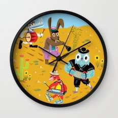 The Animal Jamboree Wall Clock