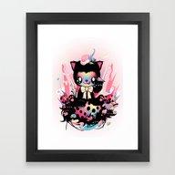 Lucky Kitty Framed Art Print