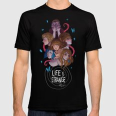 Life is Strange Mens Fitted Tee Black SMALL
