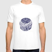 Tea Cake (blue) Mens Fitted Tee White SMALL
