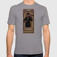 Art Nouveau: The Violinist Mens Fitted Tee Athletic Grey SMALL