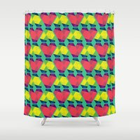 BP 82 V Diamonds Shower Curtain