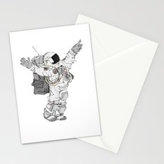 Astronaut Welcoming Visitors Stationery Cards