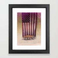 the Fox & the Flag Framed Art Print