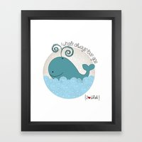 I {❤} Whale Framed Art Print