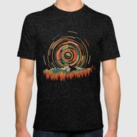 The Geometry Of Sunrise Mens Fitted Tee Tri-Black SMALL