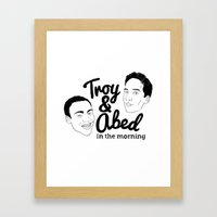 Troy & Abed In The Morni… Framed Art Print