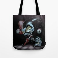 Tote Bag featuring Lil' Harley by Sheep-n-Wolves Clothing