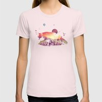 Woodlands Fox Womens Fitted Tee Light Pink SMALL