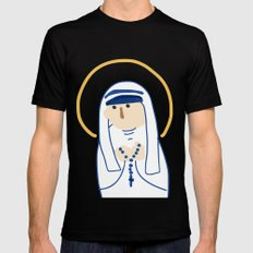St. Teresa (Mother Teresa) SMALL Black Mens Fitted Tee