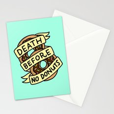 Death Before No Donuts Stationery Cards