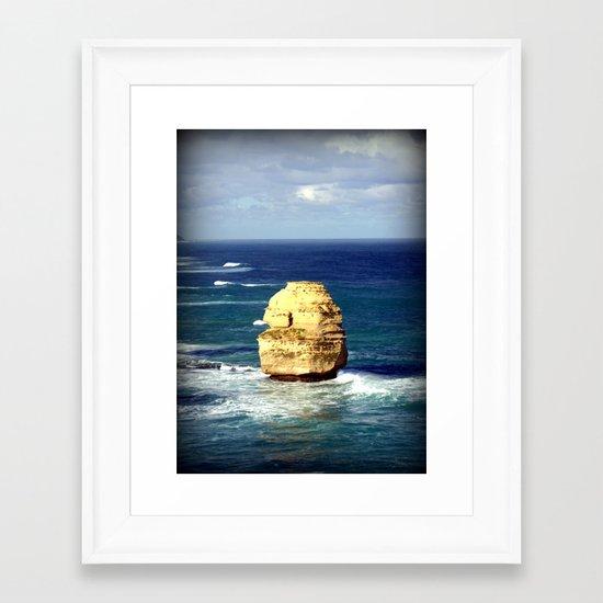 Limestone Rock Framed Art Print