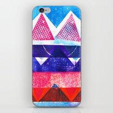 Press print and digital triangles iPhone & iPod Skin