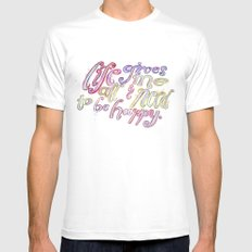 Life Gives Me All I Need  Mens Fitted Tee White SMALL