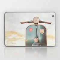 The Blue Vespa Laptop & iPad Skin
