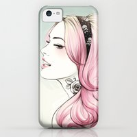 iPhone 5c Cases featuring Pink Dye by Tati Ferrigno