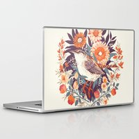 bird Laptop & iPad Skins featuring Wren Day by Teagan White
