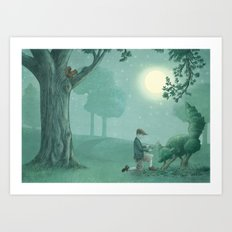The Night Gardener - Last Page Art Print