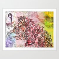 The Robot Who Melted The… Art Print
