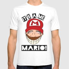 Psycho Mario SMALL Mens Fitted Tee White