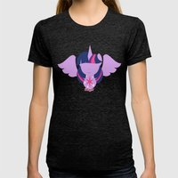 Twilight Sparkle - Alicorn Womens Fitted Tee Tri-Black SMALL