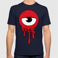 Red Eye Mens Fitted Tee Navy SMALL