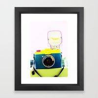In the flash! Framed Art Print