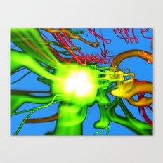 Blue N Green Canvas Print