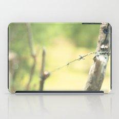 Green fence iPad Case
